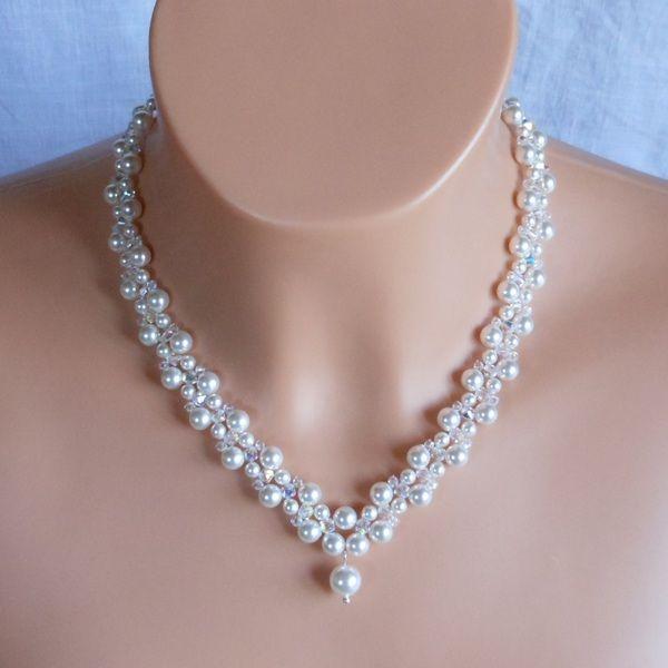 Hochzeit schmuck kette perlen