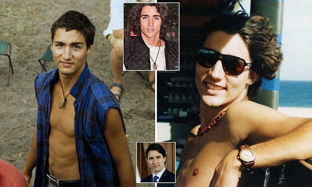 Internet goes wild after young pictures of Justin Trudeau