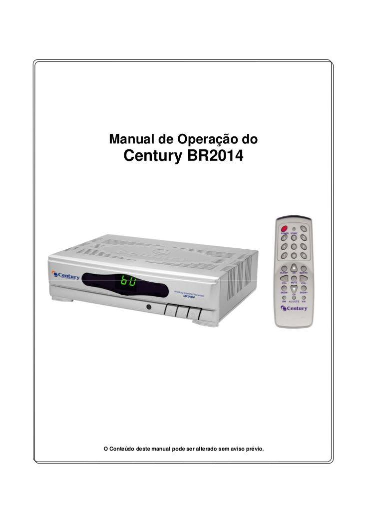 Manual de instalação do receptor de antena parabólica Century Modelo BR2014. O receptor century br2014 ao contrário do que muita gente pensa é de fácil instala…