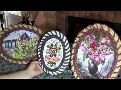 Плетёная рамочка для цветочного мотива - YouTube