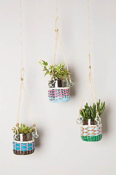 Lupine Hanging Planter // #anthropologie #pintowin