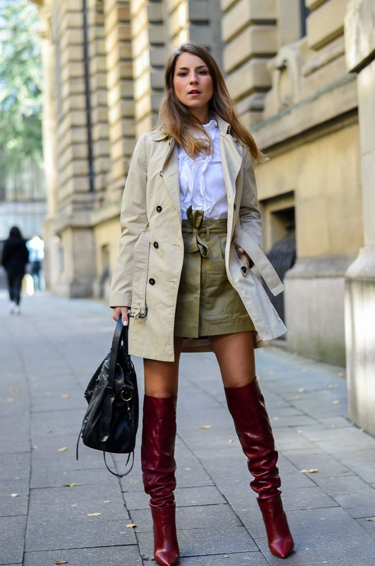 Streetstyle Autumn :: wearing a trenchcoat and my red boots from Zara