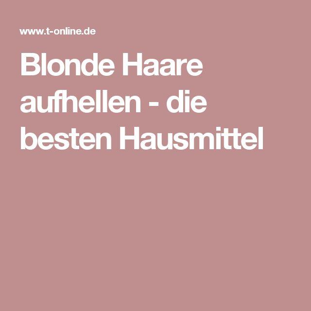 Blonde Haare aufhellen - die besten Hausmittel