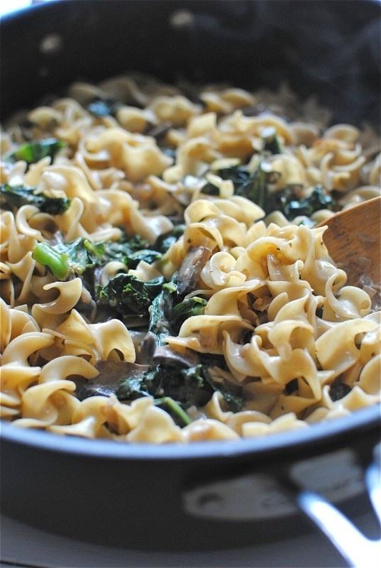 Portobello Mushroom and Kale Stroganoff. OMG, this is going to be the ...
