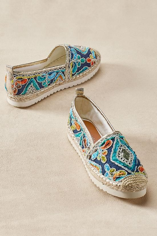 7c06beee1a590 Agleam Embroidered Espadrilles - Embroidered Espadrilles | Soft Surroundings