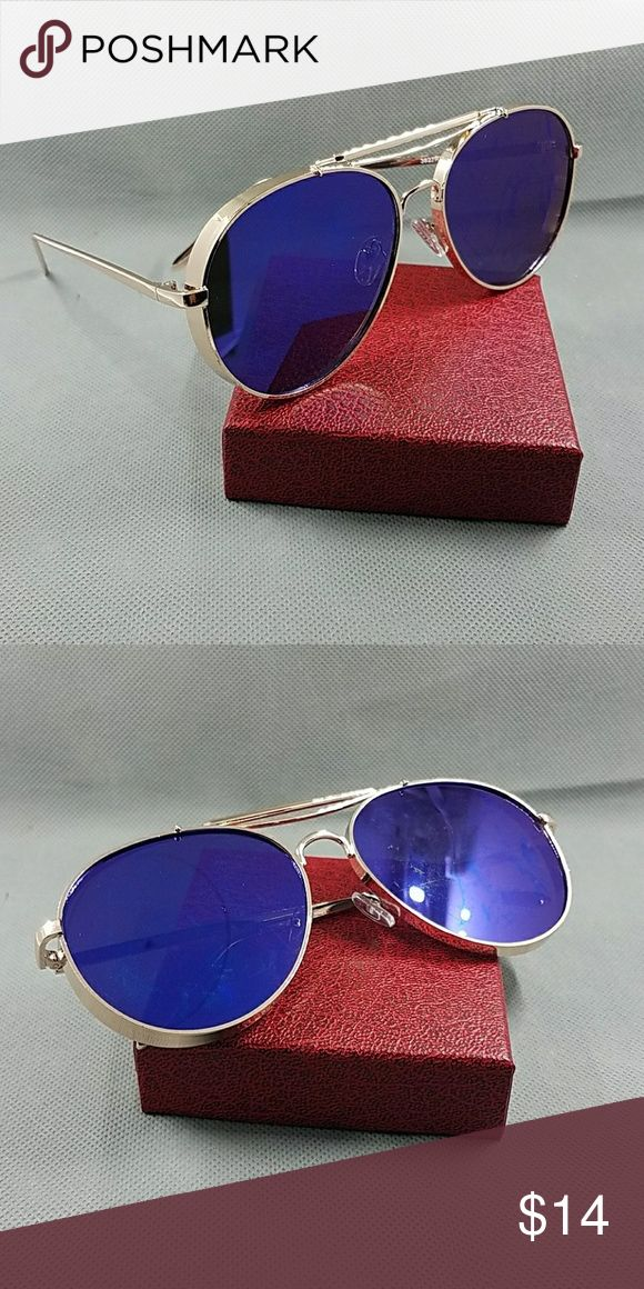 NEW HEAVY METAL AVIATOR MIRROR UNISEX SUNGLASSES NEW HEAVY METAL AVIATOR MIRROR UNISEX SUNGLASSES  GREAT QUALITY FASHION TRENDY STYLE  NEW 2017 AVIATOR STYLE WOMAN MIRROR SUNGLASSES     100% uv 400 protection   Also check on my closet for latex waist tráiner butt lifter padded panty tummy control clincher corset vest neoprene pants and shirt phone covers bags swimsuit bikini summer beach cover up black pink blue beige white gold silver chain watch necklace   60mm gold blue Accessories…