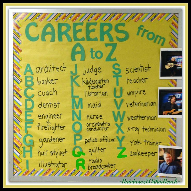 Bulletin Board: Careers A to Z via RainbowsWithinReach
