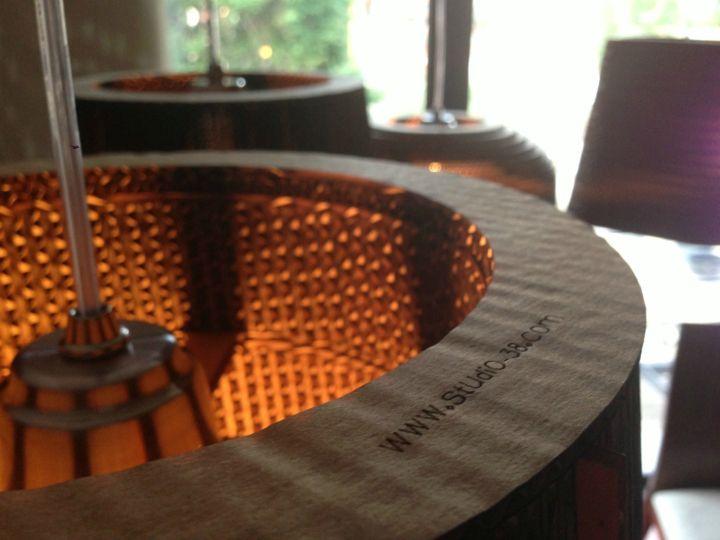 Cardboard lamps by Studio 38 »  Retail Design Blog