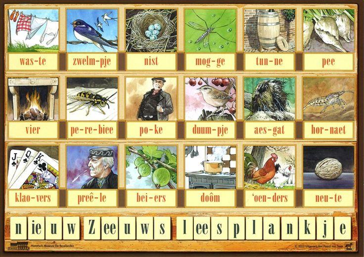 Zeeuws leesplankje, thema Zeeland voor kleuters, kleuteridee, free printable.