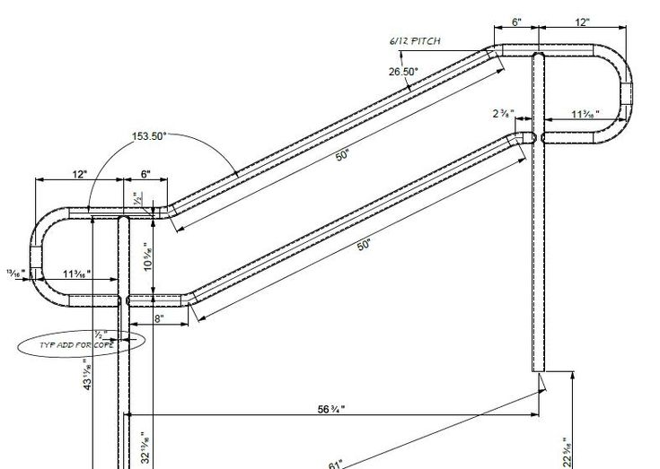 Hello,  Stumbling around in Advance Steel and wondering if there was a way to make a handrail with bent pipe. Not adding an elbow but keeping it a continuous pipe.  Running Advance Steel 2015.1/AutoCAD 2015  Thank you,