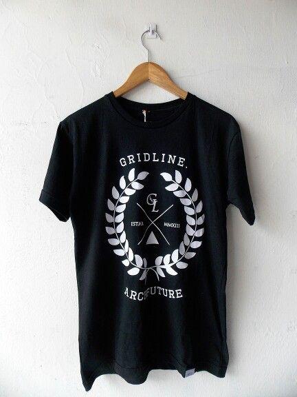 Black Rise Gridline tshirt - Rp120.000