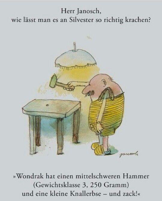Herr Janosch und Silvester.