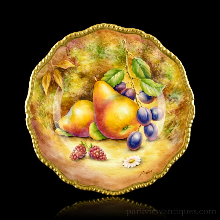 Royal Worcester Fruit Painted Cabinet Plate by D. Fuller