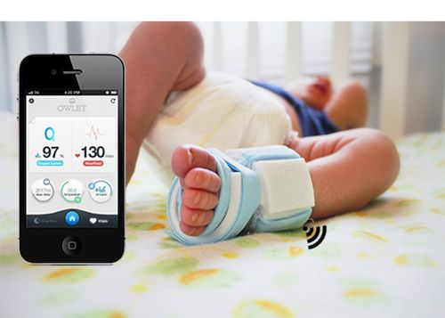 This is amazing!! Sleep easy knowing your baby is ok...sends alerts to your smartphone if baby's respiratory status changes, if they role over, skin becomes too cool, HR changes, etc. AMAZING!!