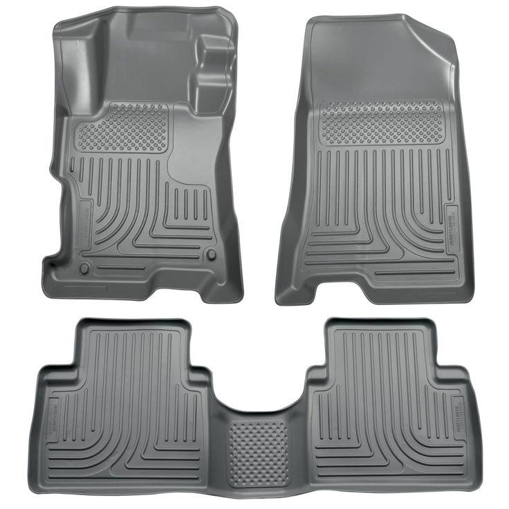 Husky Weatherbeater 2008-2012 Honda Accord 4 Door Grey Front & Rear Floor Mats/Liners