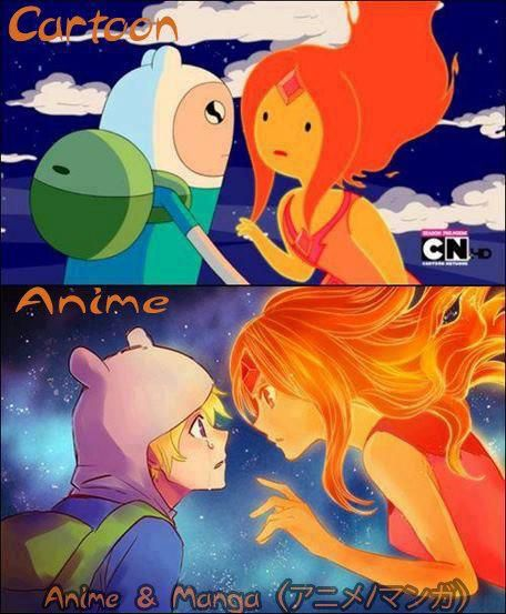 The difference between anime and cartoon^^  I wish this was a real anime . . . That would be awesome.