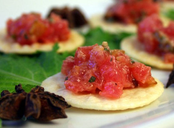 Tuna Tartare | @Omecaterer #njcatering #nycatering #caterersnj | Ome Caterers Catering NJ NY CT | Wedding Reception Ideas Decorations, Bat Mitzvahs, Charity Golf Outing, Fundraising, Corporate, Event Planner
