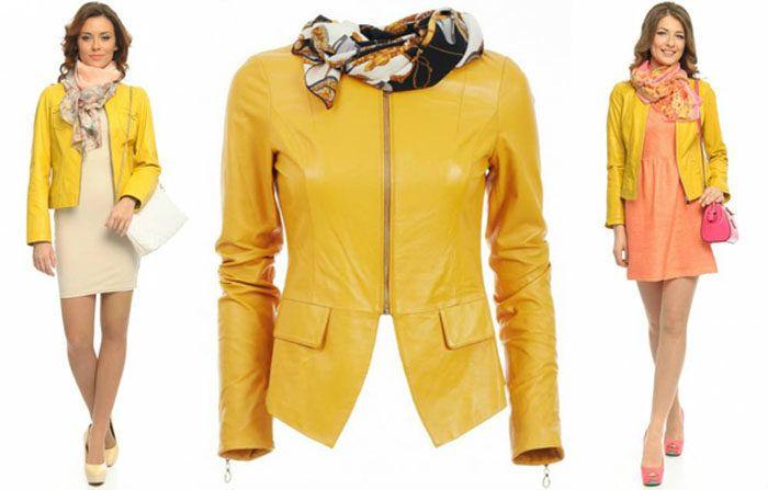 С чем носить желтое пальто, желтый пуховик и желтую куртку?