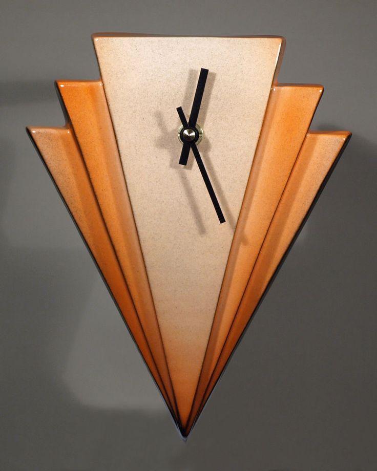 Echo Of Deco Art Deco Ceramic Manhattan Wall Clock #ArtDeco Priced at $33 as of 1/18/15