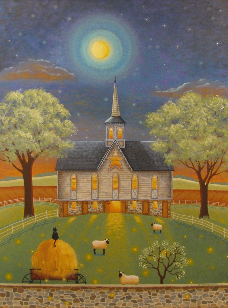 """""""Firefly Evening"""" Painting by Mary Charles @ starlitestudios.blogspot.com"""