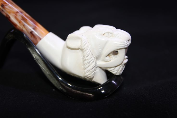 HAND CARVED MEERSCHAUM TURKISH PIPE, 014