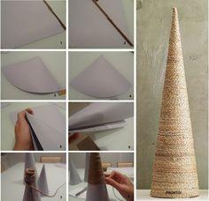 Como fazer Cone de Papel