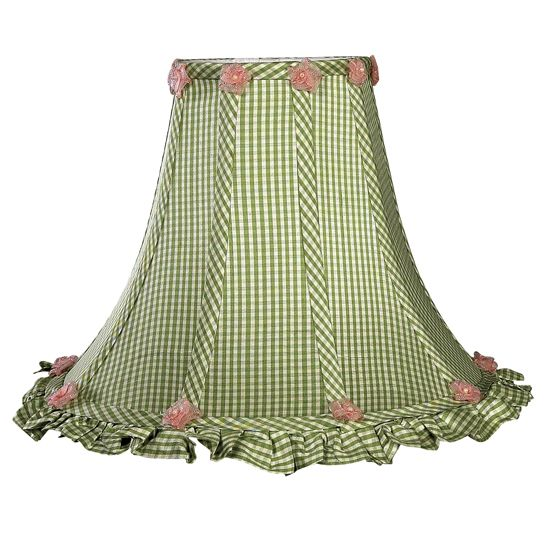 100 best lamp shades images on pinterest extra large lamp shades lamp shades green gingham ruffled lamp shade at poshtots mozeypictures Images