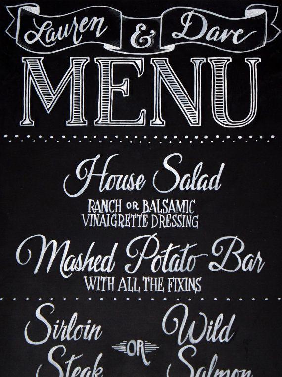 how to make a chalkboard menu board