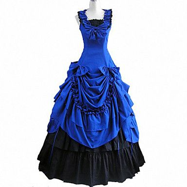 Graceful Lady Sleeveless Floorlength Cotton Victorian Gothic Lolita Dress – USD $ 99.99