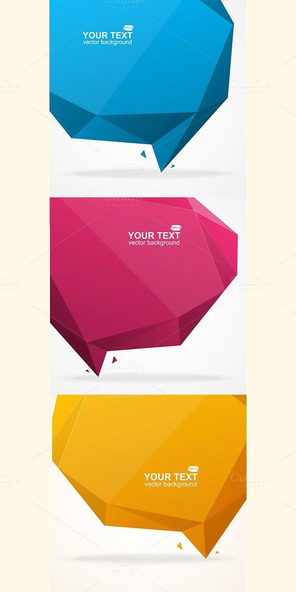 Abstract origami polygonal shape. Business Infographic. $5.00
