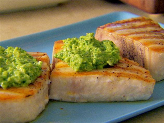 Swordfish With Citrus Pesto Recipe : Giada De Laurentiis : Food Network