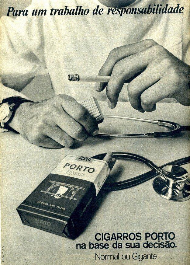 Já esta propaganda de cigarros é voltada para os médicos.