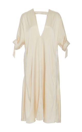Simple Satin Drape Dress by KITX for Preorder on Moda Operandi