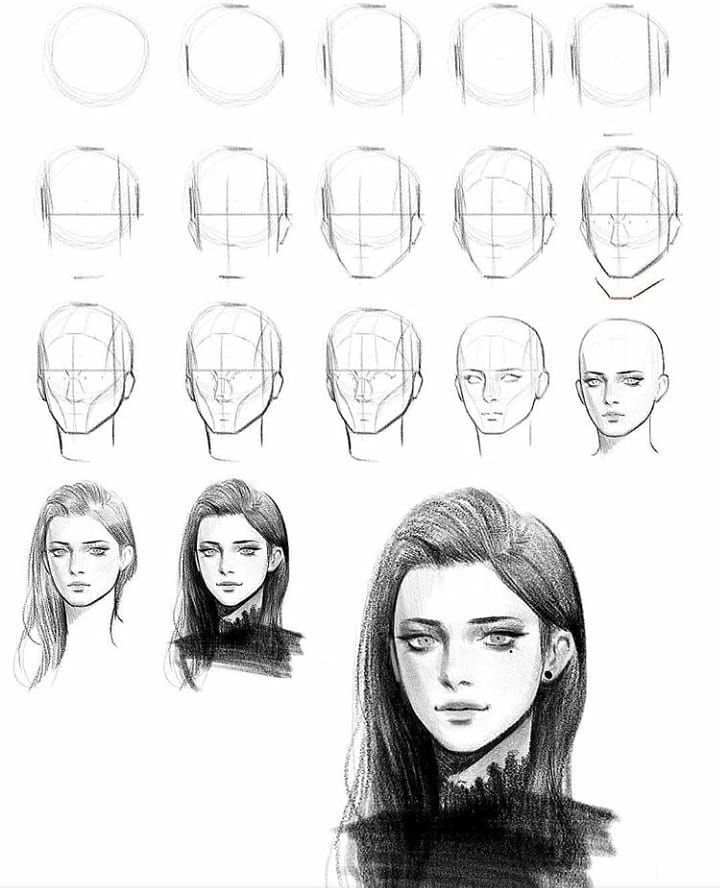 Instagram의 How To Draw Manga Comics님 I Thought This Was A Great Step By Srep If You Wanted T In 2020 Realistic Face Drawing Drawing Tutorial Face Girl Face Drawing