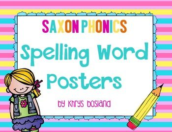 These Saxon Phonics posters will make it easy to post your weekly spelling words, without using a pocket chart! The 28 spelling list posters are organized by week. Each poster has the Saxon lesson and spelling list in small print on the bottom to keep things in order.