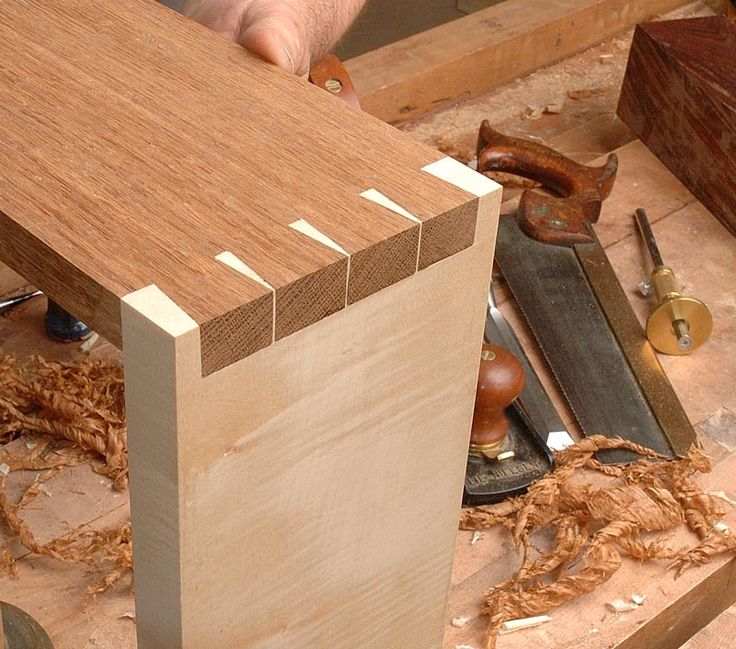 London Style Dovetails Contrasting Pins And Tails