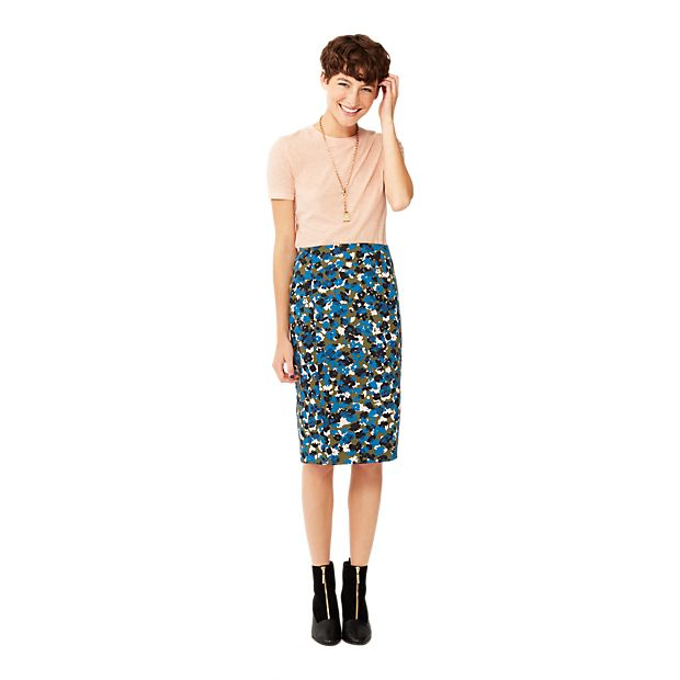 Pencil Skirt in Camo Floral - Kate Spade Saturday