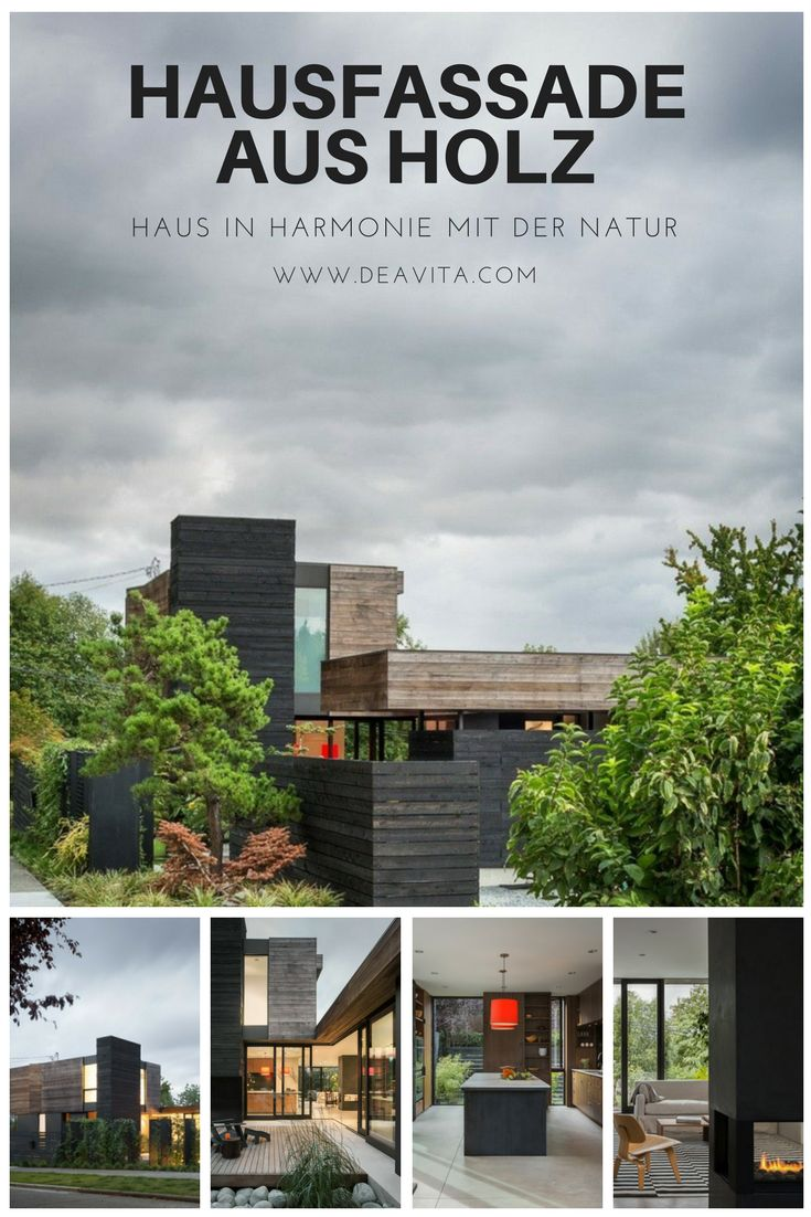 Hausfassade Aus Holz Lässt U201eHelen Street Houseu201c In Seattle Mit Der Natur  Verschmelzen.