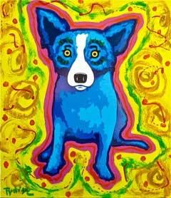 Blue Dog Art-George Rodrique Paintings