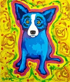 Blue Dog Art-George Rodrique Paintings