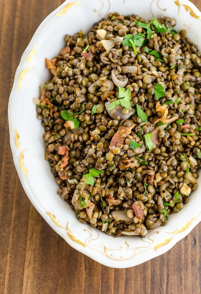 Recipe: Warm French Lentil Salad with Bacon & Herbs — Lunch Recipes from The Kitchn   The Kitchn