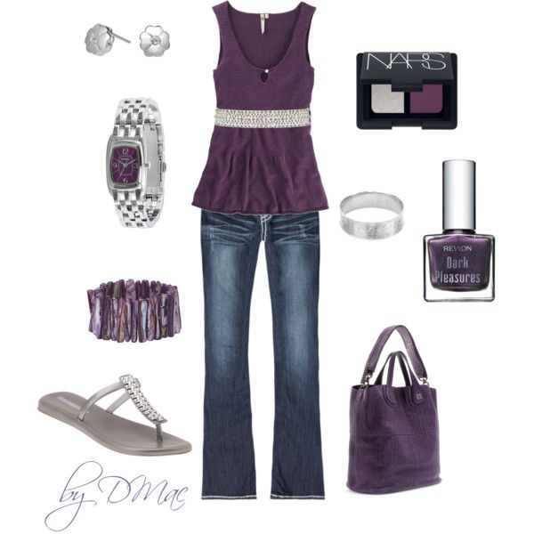 Purple and Silver!, created by dmac30 on Polyvore
