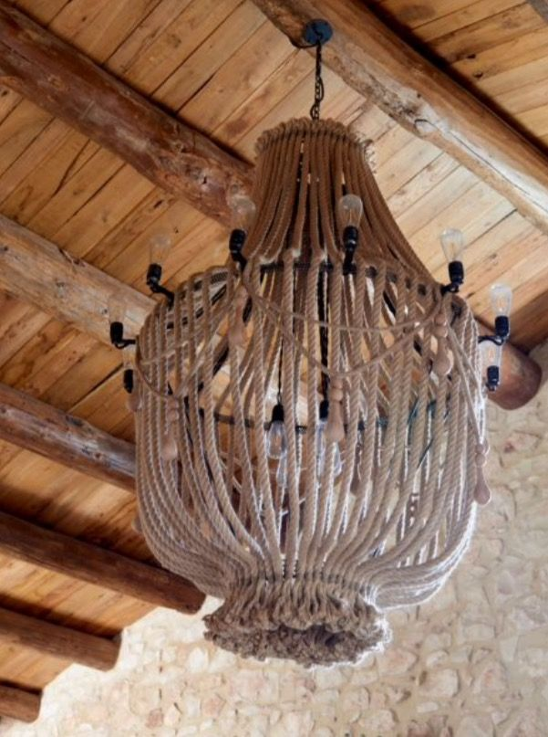 """This wonderful chandelier is from our feature """"Earthy Oasis"""""""
