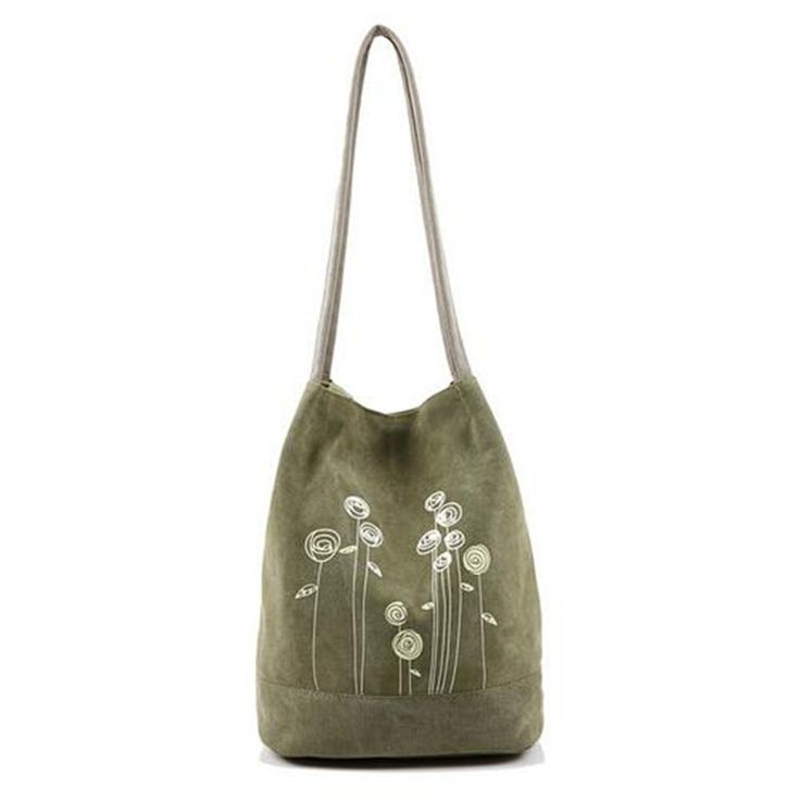 2017 Summer Fashion Simple Canvas Shoulder Bag Printing Women Large Bucket Handbag Casual Teenagers Floral School Tote Bag Bolso