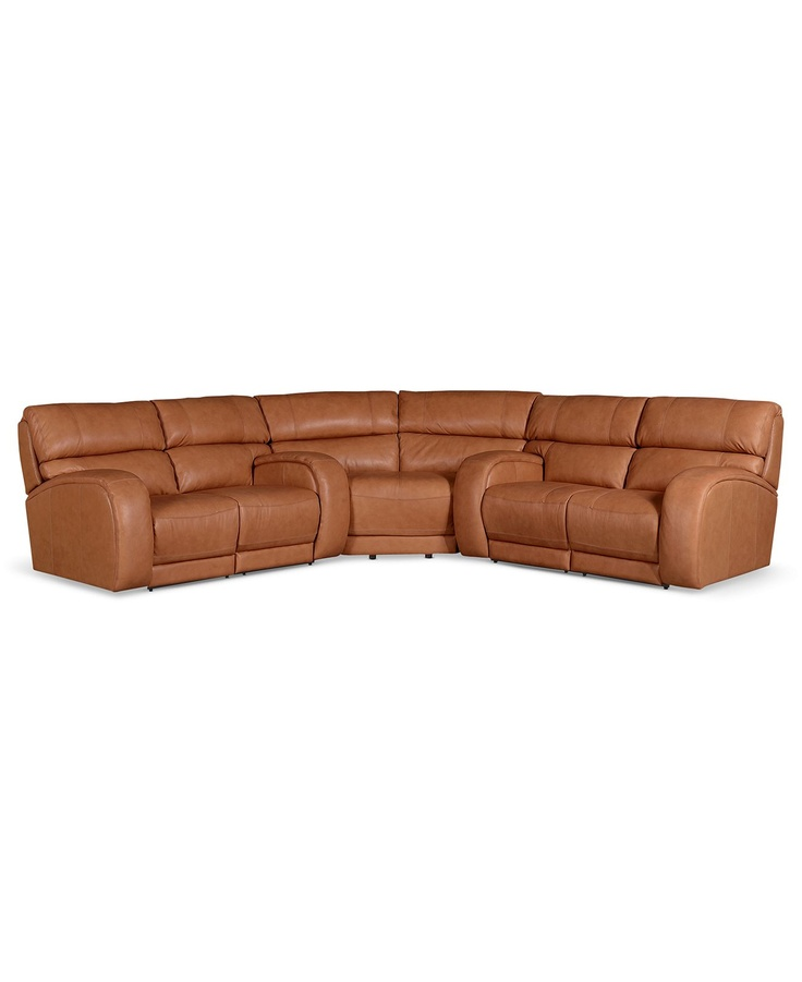 Damon Leather Reclining Sectional Sofa 3 Piece Power