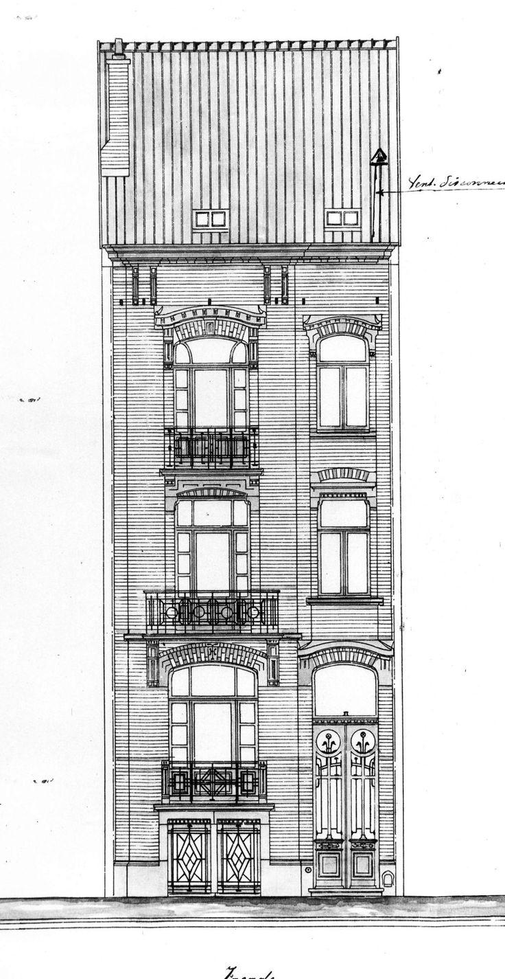 659 best fondos dibujos de arquitectura architecture drawings etterbeek rue pere eudore devroye 61 dujardin Emile