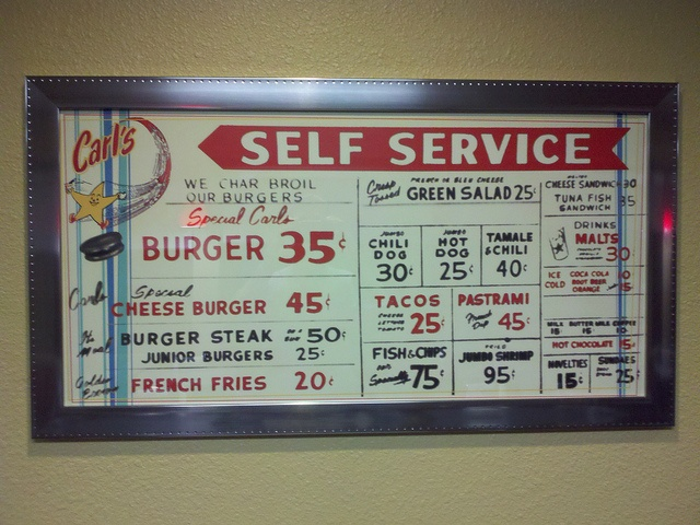 Old Carl's Jr Menu Prices From The Past by sgroi, via Flickr