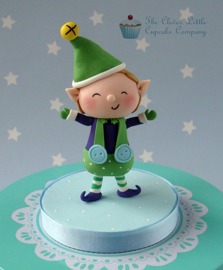 Christmas Elf Topper (inspiration to be made with polymer clay)