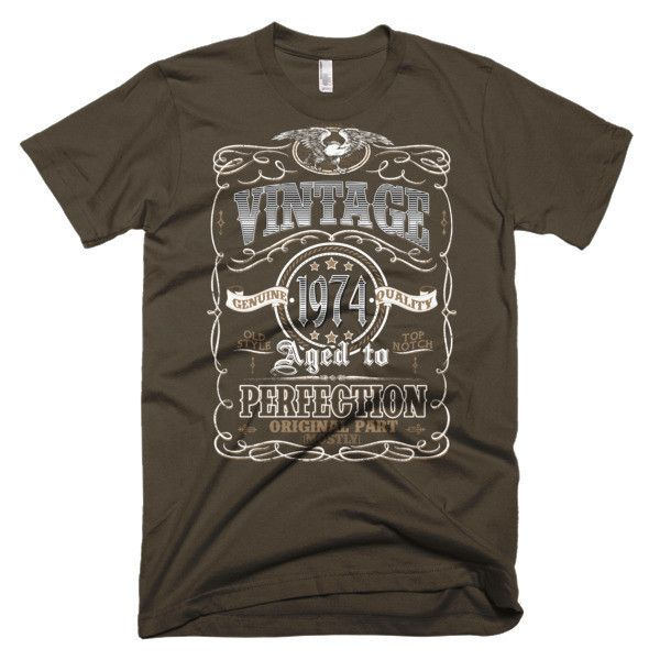 Men's Aged to Perfection 43 yrs years old Born in 1974 Birthday Vintage Made In 1974 T-Shirt