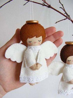 Moldes para hacer figuras navideñas de fieltro